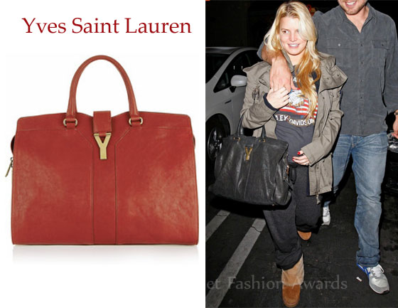 ysl mini cabas chyc price euro - Jessica Simpson\u0026#39;s Yves Saint Laurent Cabas Chyc Leather Tote - Red ...