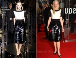 Joely Richardson In Louis Vuitton - 'The Girl With The Dragon Tattoo' World Premiere