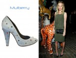Kate Bosworth's Mulberry Gems On Washed Denim Pumps