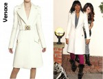 Kelly Rowland's Versace Double Wool Cloth Coat