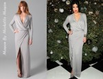Kim Kardashian's Mason By Michelle Mason Wrap-Effect Jersey Maxi Dress