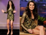 Lea Michele In Emilio Pucci - The Tonight Show With Jay Leno