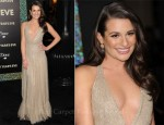 Lea Michele In Valentino - 'New Year's Eve' LA Premiere