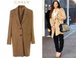 Leona Lewis' Topshop Boutique Mans Wool Mix Coat