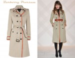 Lou Doillon's Burberry Prorsum Leather-Trimmed Cotton-Gabardine Trench Coat