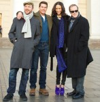 Paula Patton's Brian Atwood Cohen-Borchie Ankle Boots - 'Mission: Impossible Ghost Protocol' Moscow Photocall