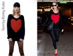 Nicky Hilton's Torn by Ronny Kobo Jovia Heart Sweater