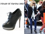 Nicole Richie's House of Harlow 1960 Nelly Kilty Platform Booties