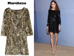 Olivia Palermo's Marchesa Sequined Silk Mini Dress