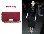 Olivia Palermo's Mulberry Suede Bayswater Clutch