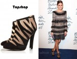 Olivia Palermo's Topshop Ariel Flame Side Mesh Boots