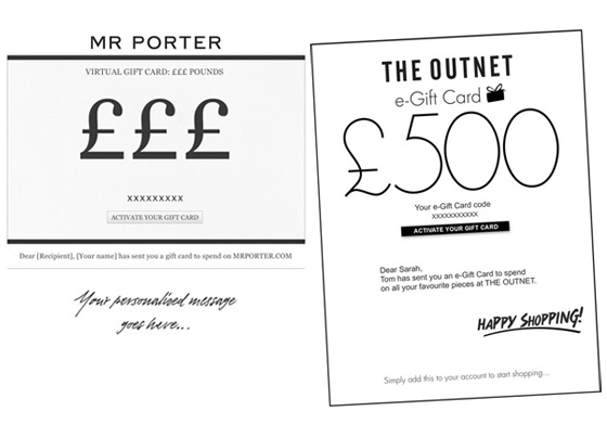 Virtual Gift Cards From Net-A-Porter, theOutnet & Mr Porter - Red ...