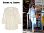 Pippa Middleton's Temperley London Grace Silk-Chiffon Blouse