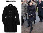 Princess Beatrice's Miu Miu Pleated Wool Coat