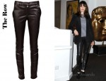 Rachel Weisz' The Row Smashton Leather Pants