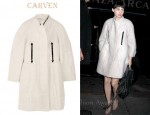 Rooney Mara's Carven Alpaca And Wool-Blend Coat