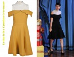 Rooney Mara's Rodarte for Opening Ceremony Mock Neck Slit Dress and Prada Mary Jane Wedges