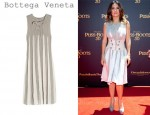 Salma Hayek's Bottega Veneta Silk & Cotton Open-Knit Dress