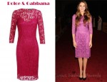 Shailene Woodley's Dolce & Gabbana Floral Lace Dress