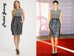 Shailene Woodley's Prabal Gurung Combo Dress