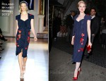 Sidewalk Style: Evan Rachel Wood In Roland Mouret