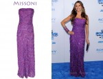 Sofia Vergara's Missoni Heloise Sequined Crochet-Knit Gown
