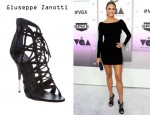 Stacy Keibler's Giuseppe Zanotti Crystal Embellishment Sandals