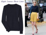 Taylor Swift Ralph Lauren Black Label Cable-Knit Cashmere Sweater