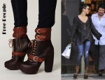 Vanessa Hudgens' Free People Andee Platform Buckle Boot