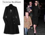 Victoria Beckham's Victoria Beckham Pleated Wool Coat