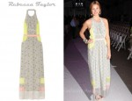 Whitney Port's Rebecca Taylor Patchwork Silk Halterneck Dress