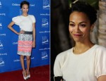Zoe Saldana In Giambattista Valli - The Children's Defense Fund's 21st Annual Beat The Odds Event