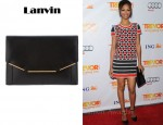 Zoe Saldana's Lanvin Black Leather Clutch