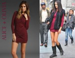 Adriana Lima's Alice + Olivia Long Sleeve Goddess Dress