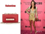 Alessandra Ambrosio's Valentino Mini VaVaVoom leather shoulder bag