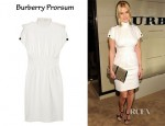 Alice Eve's Burberry Prorsum Stretch-Ponte Turtleneck Dress