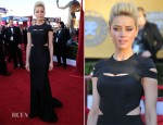 Amber Heard In Zac Posen - 2012 SAG Awards
