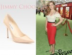 Amy Adams' Jimmy Choo Patent Point Toe Pumps