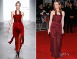 Andrea Riseborough In Marios Schwab - 'W.E' London Premiere