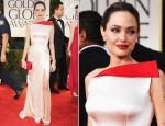 Angelina Jolie In Atelier Versace - 2012 Golden Globes