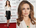 Angelina Jolie In Salvatore Ferragamo - 2011 New York Film Critics Circle Awards