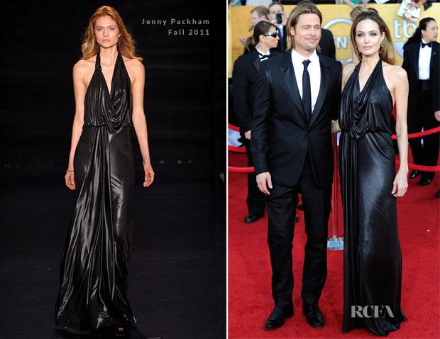 f028031358ea Angelina Jolie In Jenny Packham - 2012 SAG Awards - Red Carpet ...