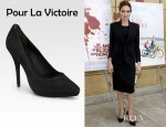 Angelina Jolie's Pour La Victoire Daina Suede Point Toe Pumps