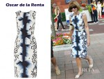 Anna Wintour's Oscar de la Renta Printed Silk Shift Dress
