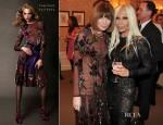 Anna Wintour In Tom Ford - Versace Étoile De La Mer Sunglasses Launch Party