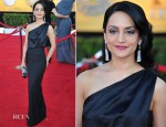 Archie Panjabi In Carolina Herrera - 2012 SAG Awards