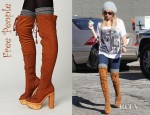 Ashley Tisdale's Free People Devandra Tall Boots