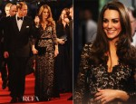 Catherine, Duchess of Cambridge In Alice by Temperley - 'War Horse' London Premiere
