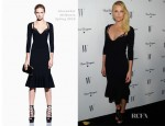 Charlize Theron In Alexander McQueen – W Magazine's Annual Golden Globe Awards Celebration