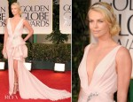 Charlie Theron In Christian Dior - 2012 Golden Globe Awards